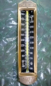 Antique Brass Weksler Thermometer 30 to 240 degrees