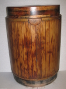 All Wood Whiskey Barrel Wine Barrel Half End Table Shelf Decor