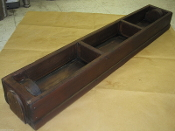 Garden Planter Vintage Rare Red Wood 3 cubical 38 inches long