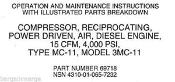 3MC11 Davey Diesel  Compressor Technical Manual