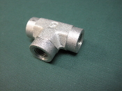 Parker 1/4 inch Female NPT Union pipe Tee fitting Steel 6000 psi