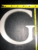 Foundry pattern letter G aluminum 6 inch Long 1/2 thick