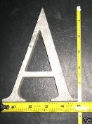 Foundry pattern letter A aluminum 6 inch Long 1/2 thick