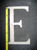 Foundry pattern letter E aluminum 4 1/4 inch 1/4 thick