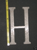 Foundry pattern letter H aluminum 4 1/4 inch 1/4 thick