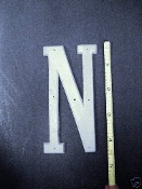 Foundry pattern letter N aluminum 4 1/2 inch 1/8 thick