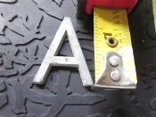 Sign Letter A Cast Aluminum 1 3/8 in long x 1/8 thick Arial