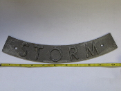 Aluminum Utility Rocker Sign STORM Pattern
