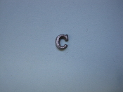Foundry Pattern Cast Aluminum Letter C 1/4 x 1/16 thick