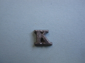 Foundry Pattern Cast Aluminum Letter K 1/4 x 1/16 thick