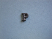 Foundry Pattern Cast Aluminum Letter P 1/4 x 1/16 thick