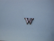 Foundry Pattern Cast Aluminum Letter W 1/4 x 1/16 thick