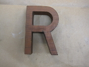 Hardwood Foundry Pattern Vintage Monogram Letter R 6 in long