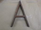 Hardwood Foundry Pattern Vintage Letter A 8 in long 3/8 thick