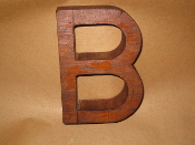 Hardwood Foundry Pattern Vintage Letter B 6 inches long