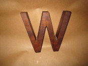 Hardwood Foundry Pattern Vintage Monogram Letter W 6 inches L