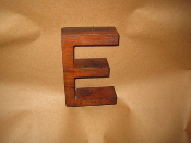 Hardwood Foundry Pattern Vintage Monogram Letter E 6 in L