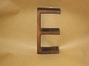 Hardwood Foundry Pattern Vintage Monogram Letter E 6 1/8 in L