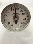 "-40/+180 Fahrenheit Ashcroft Thermometer 3"" Dial Size"