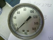 "0-160 PSI Pressure Gauge 2-1/2"" Dial Size Ashcroft *"
